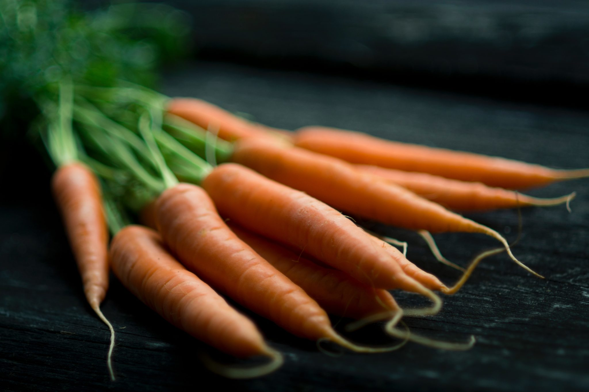 photo of carrots on a table