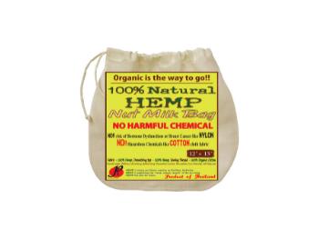 photo of hemp nut milk bag